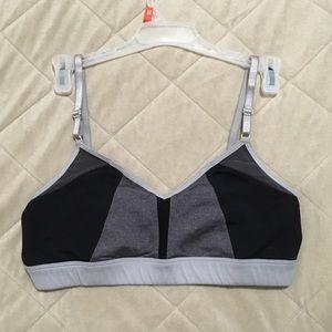 ALO Yoga Black and Grey Sports Bra